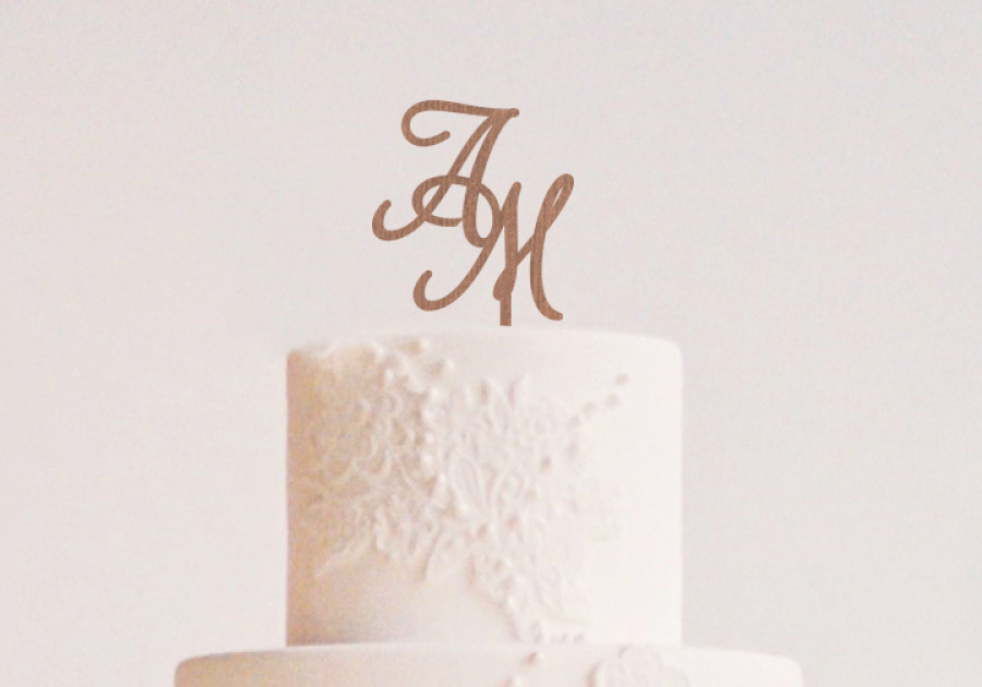 Cake Topper-iniciales