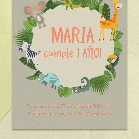 Invitacion safari niña zoom